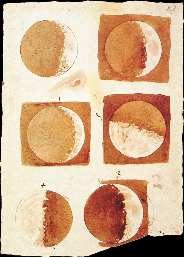 Title: Drawings of the Moon, November-December 1609 | Author: Galileo Galilei | License: CC0