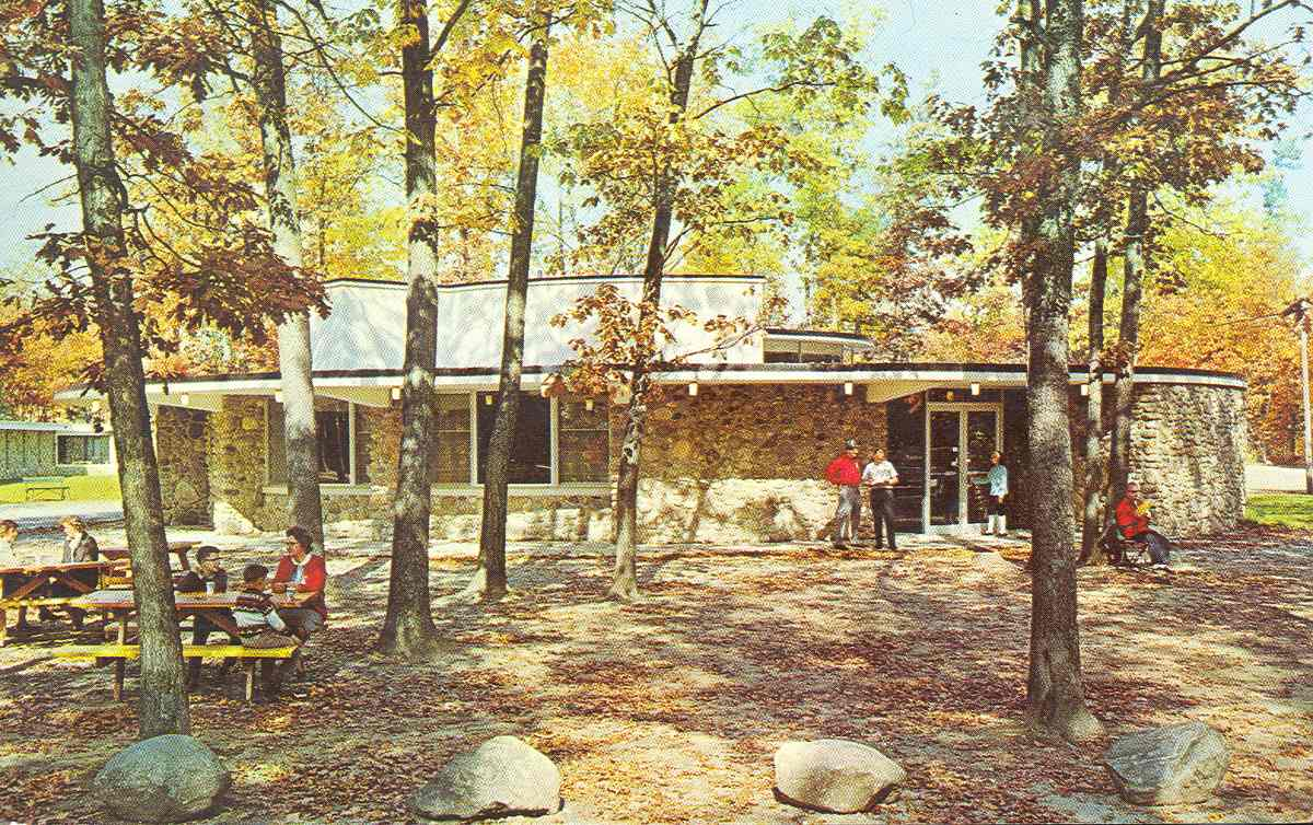 Photo of Interlochen in 1966. Interlochen started off as National Music Camp in 1928--it's been around for a while. Credit: Flickr user Up North Memories https://www.flickr.com/photos/upnorthmemories/