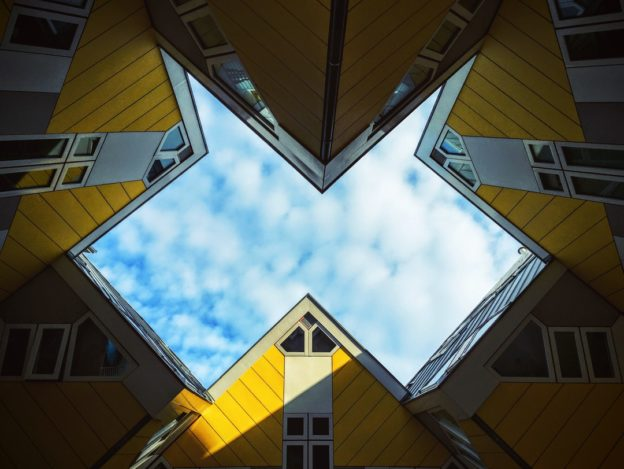 Photo of yellow buildings and sky by Tim Gouw | License: CC0