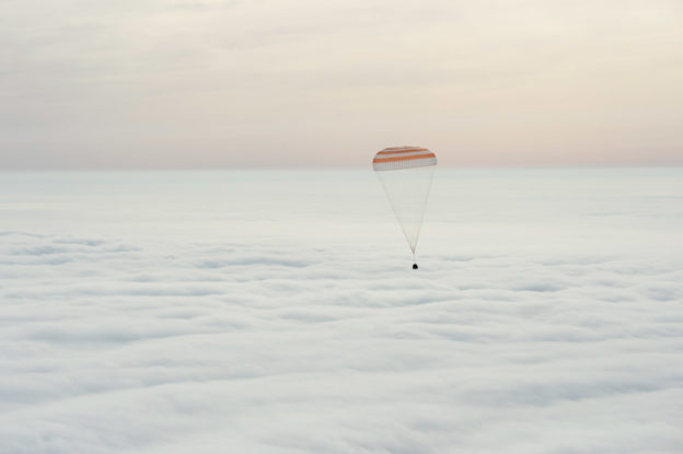 One Year Crew Returns to Earth | Credit: NASA