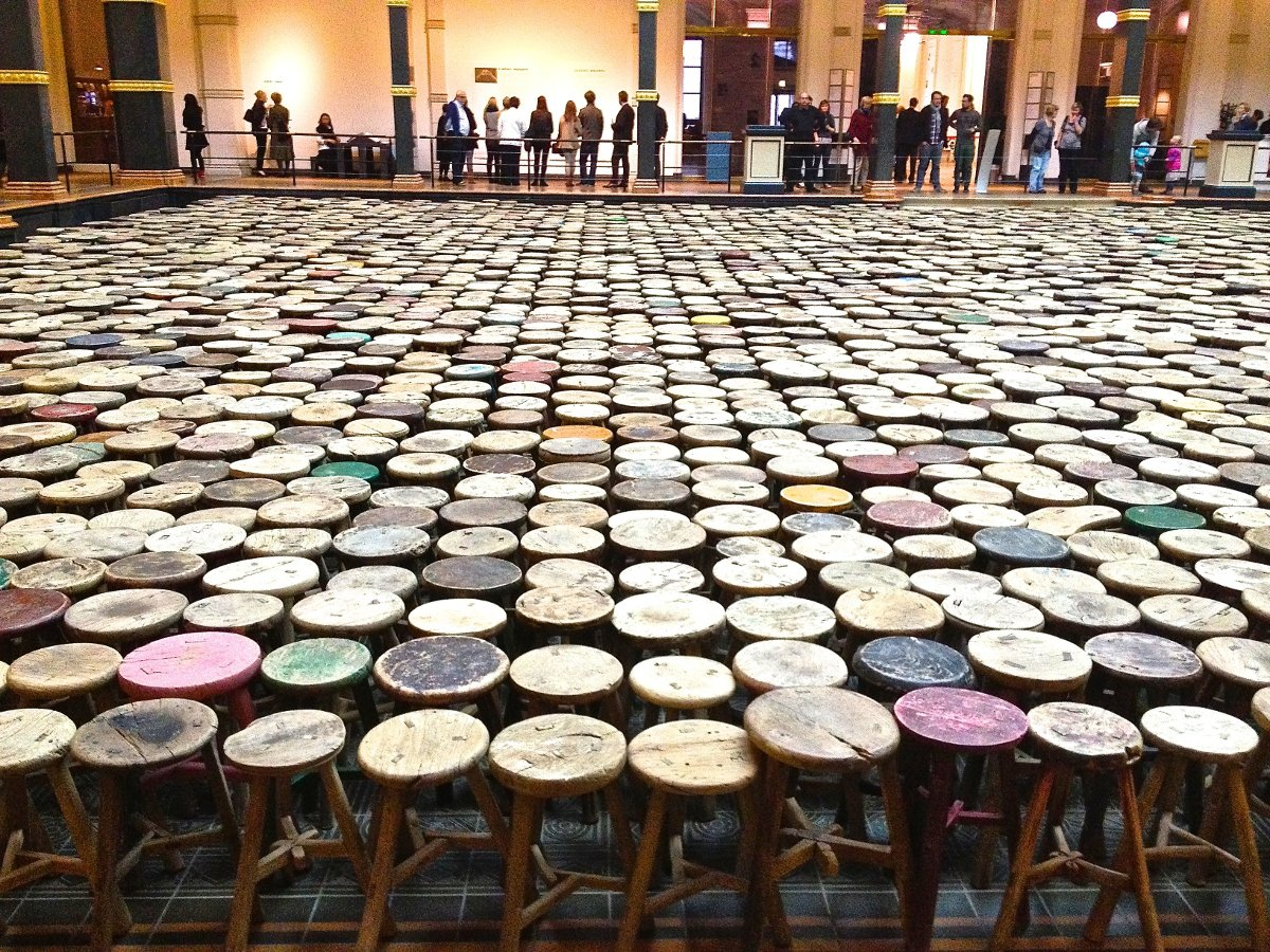 """Stools,"" by Ai Weiwei 