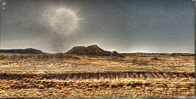 """""""Google Street View - Pan-American Trek - US385 South in Texas Panhandle"""" 