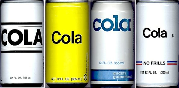 Meditation is to mindfulness as cola is to beverages :) Title: Generic Cola Cans 1980s | Author: ReplyAble | Source: Wikipedia | License: CC BY-SA 3.0