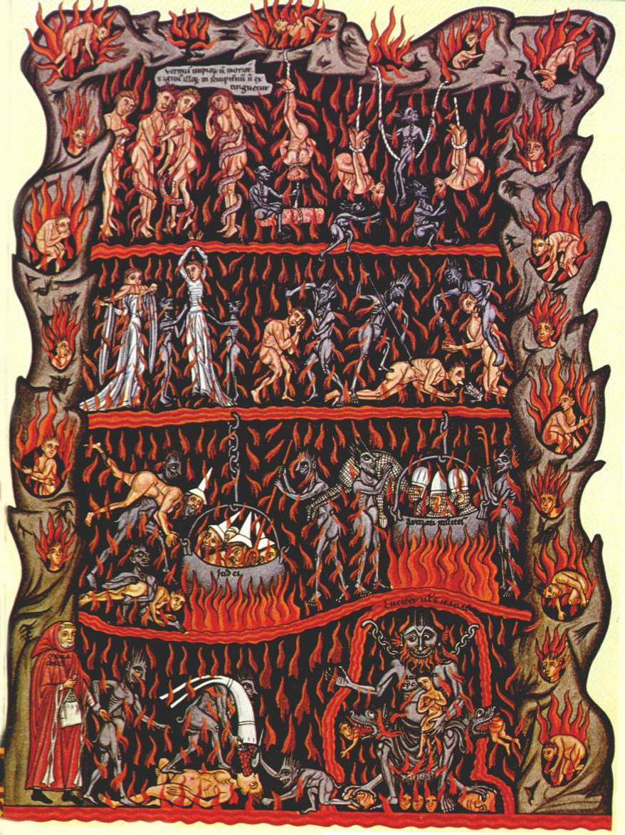 Title: Hortus Deliciarum – Hell (License: Public Domain)