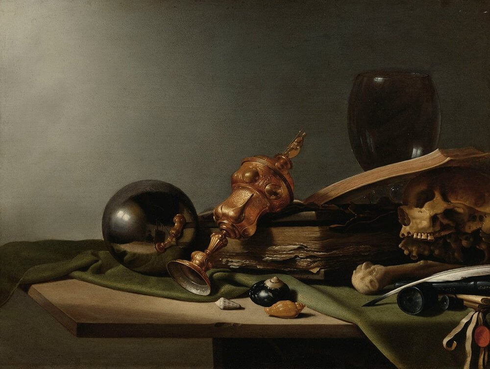 """Vanitas – Still-Life,"" (c. 1634), follower of Pieter Claesz. (Public Domain)"