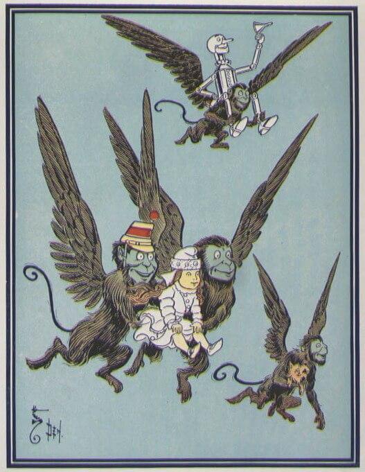 Illustration by W. W. Denslow from The Wonderful Wizard of Oz