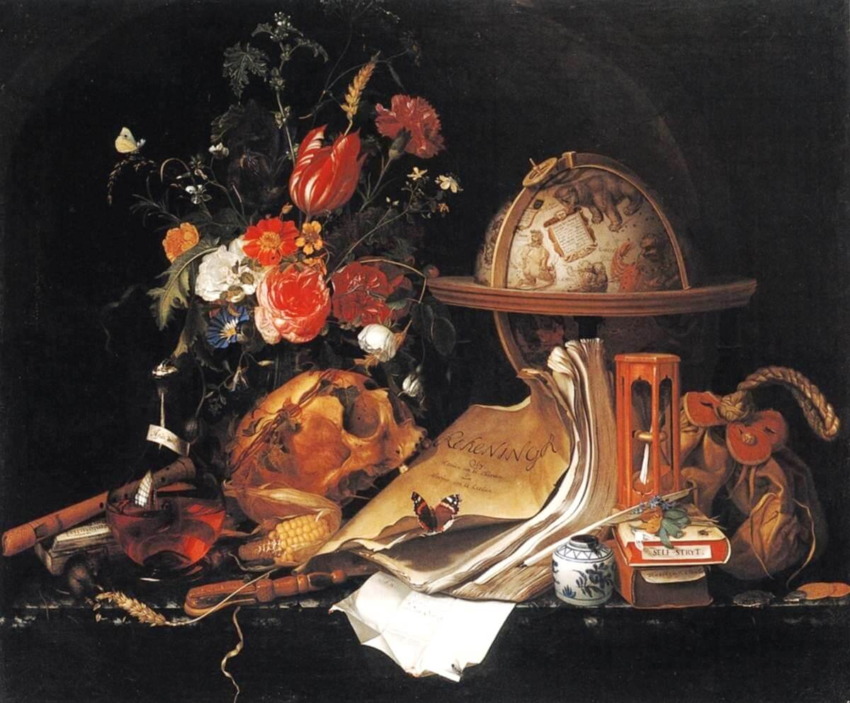 """Vanitas-Still Life,"" (1668), Maria van Oosterwijck(License: CC0)"