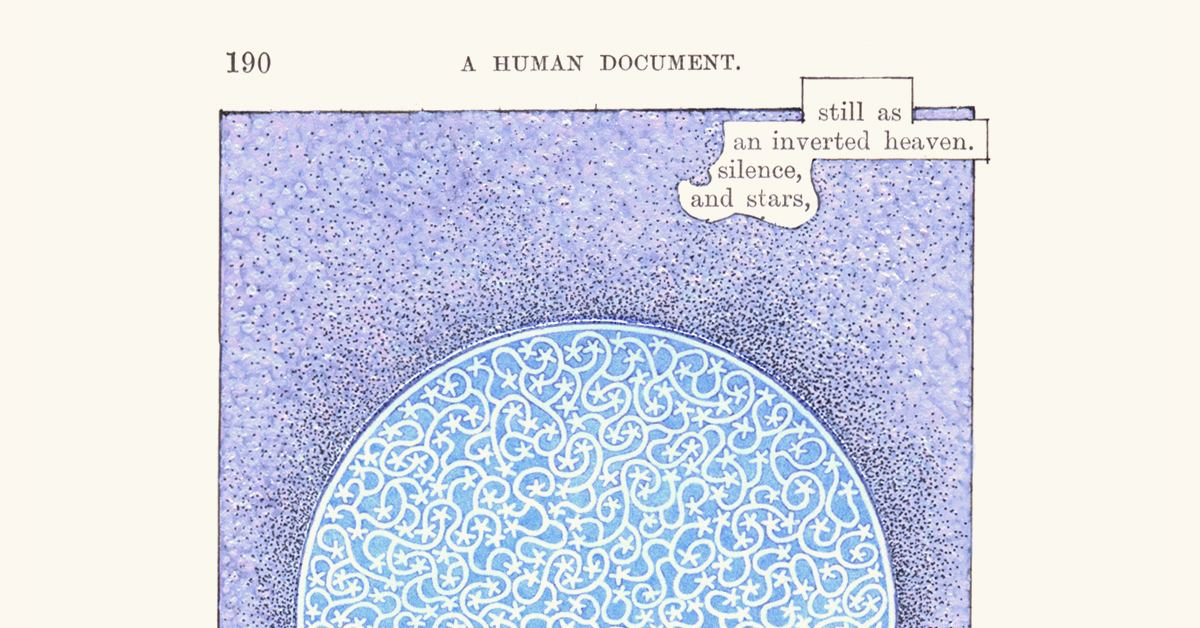 """A Humument p190: Silence & Stars"" 