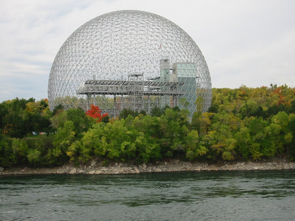 Title: The Montreal Biosphère by Buckminster Fuller, 1967 | Author: Cédric THÉVENET | Source: Wikimedia | License: CC BY-SA 3.0