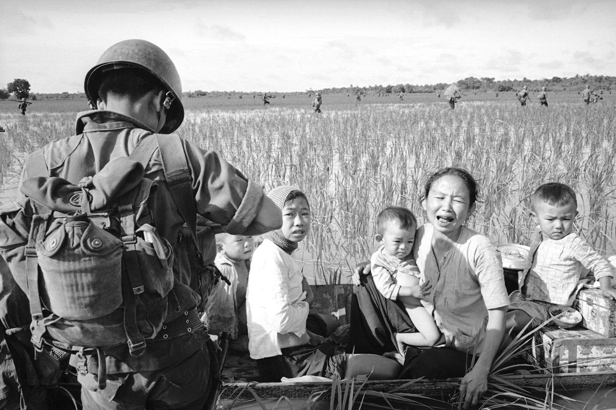 Title: Villagers displaced by a US Army operation, March 1966 | Credit: AP Photo/Huynh Thanh My | Source: manhhai| License: CC BY
