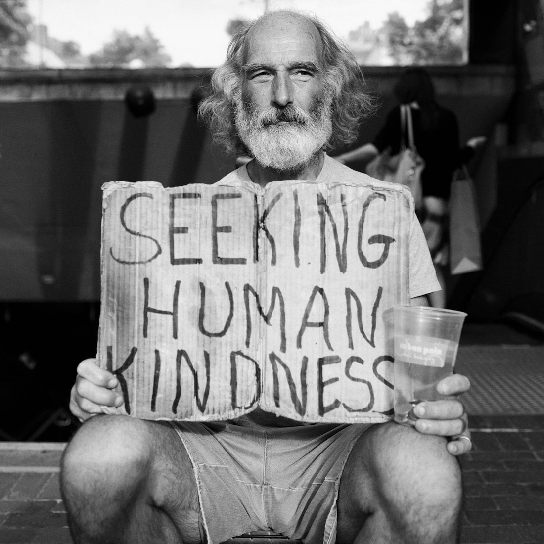 Title: Seeking Human Kindness | Author: Almond Butterscotch | Source: almondbutterscotch | License: CC BY-NC-ND 2.0
