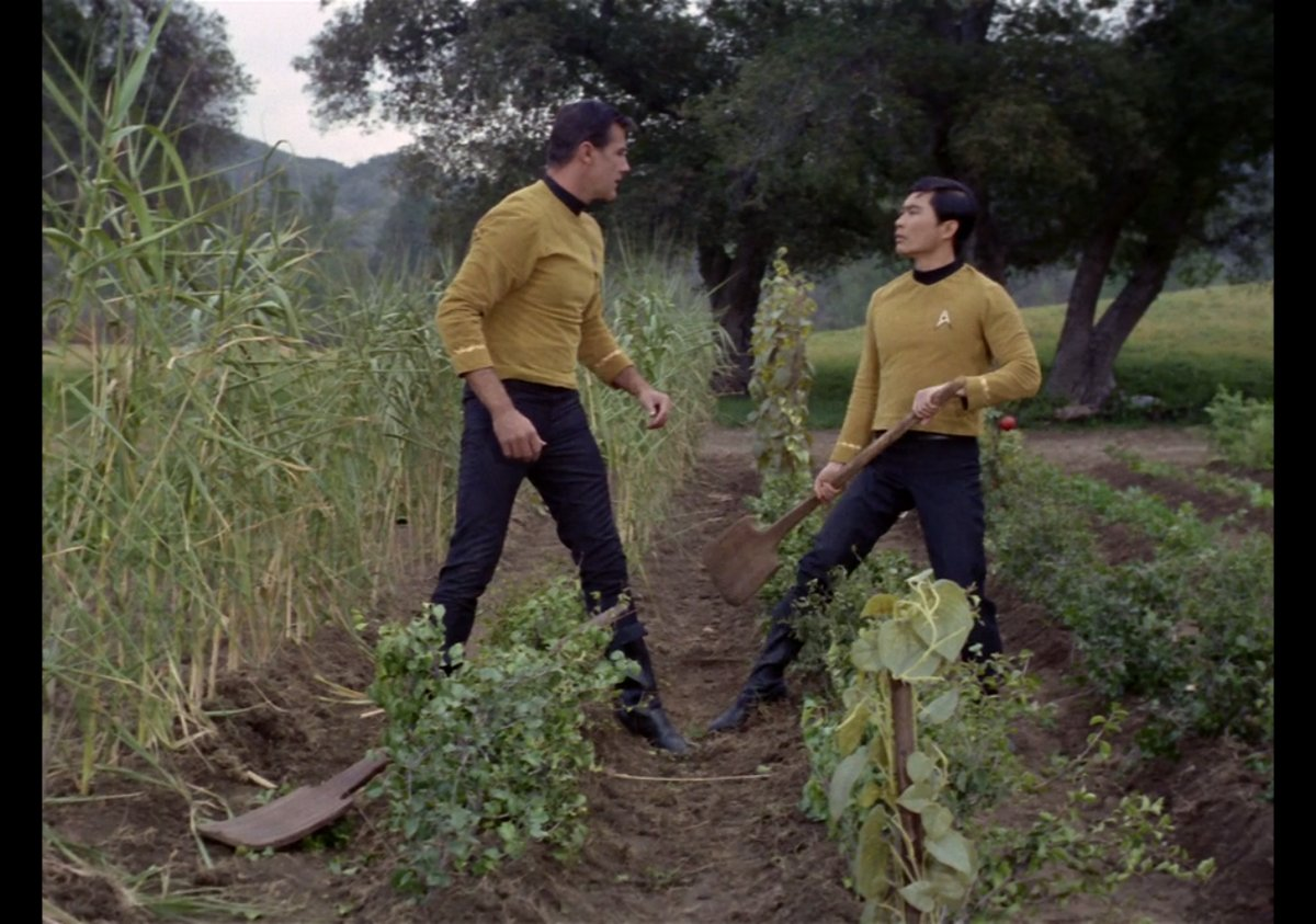 "Title: Michael Barrier, George Takei, Star Trek TOS, ""This Side of Paradise,"" 1967 