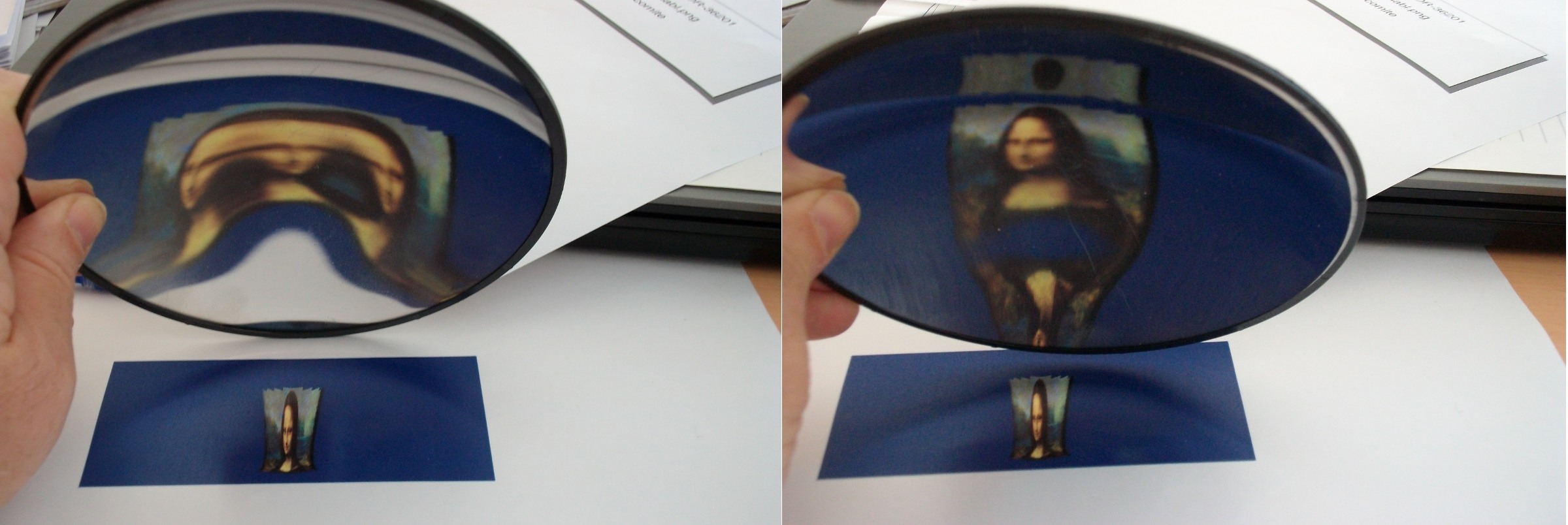 Title: Anamorphosis in a concave paraboloidal mirror | Author: fdecomite | Source: Own work | License: CC BY-NC-ND 2.0